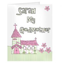 Pink Church Godmother Card